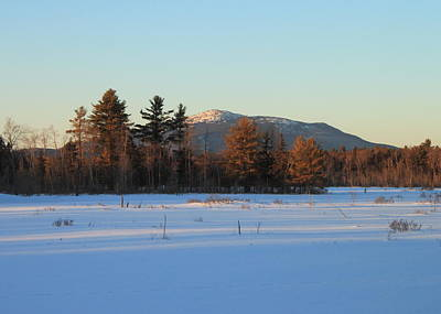 Mount Monadnock From Scott Brook In Winter Poster by John Burk