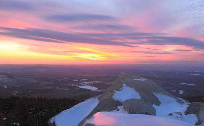 Mount Monadnock Winter Sunset Poster by John Burk