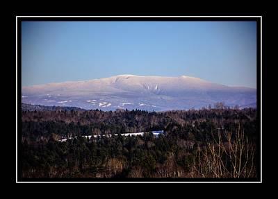 Mount Moosilauke Snowy Blanket Poster