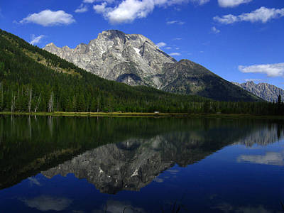 Poster featuring the photograph Mount Moran And String Lake by Raymond Salani III