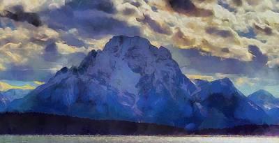 Mount Moran Painting Poster by Dan Sproul