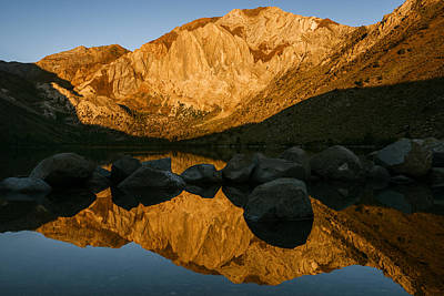 Mount Morrison Convict Lake Morning Poster by Vishwanath Bhat