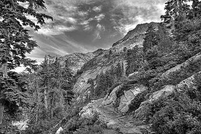 Mount Pilchuck Black And White Poster