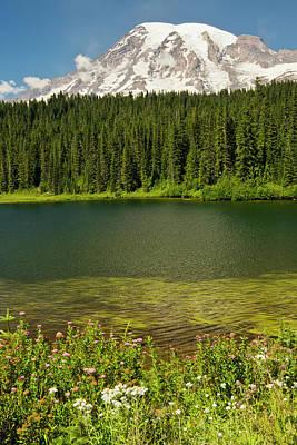 Mount Rainier And Reflection Lake Poster