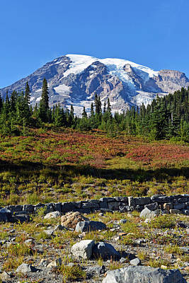 Poster featuring the photograph Mount Rainier by Anthony Baatz