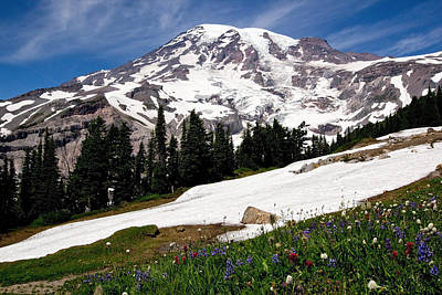 Mount Rainier From Paradise Poster by Bob Noble Photography