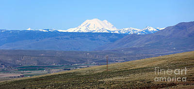 Mount Rainier From Selah Viewpoint Poster by Carol Groenen