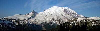 Poster featuring the photograph Mount Rainier From Sunrise by Bob Noble Photography