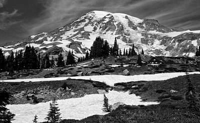 Mount Rainier From The Paradise Visitor Center Poster by Bob Noble