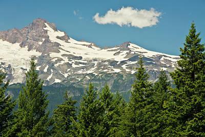 Mount Rainier, Snow Covered, Road Poster