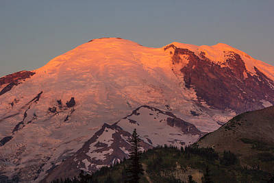 Mount Rainier Sunrise Poster by Bob Noble Photography