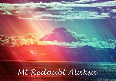 Mount Redoubt Alaska Poster by Debra  Miller