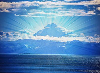 Mount Redoubt Amazing Landscape Poster by Debra  Miller