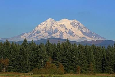 Mount Rainier Washington Poster by Tom Janca