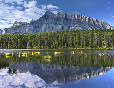 Mount Rundle Reflection Banff Np Poster