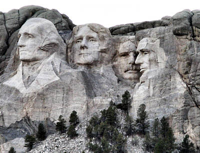 Mount Rushmore National Memorial Poster by Patricia Januszkiewicz