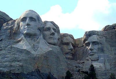 Mount Rushmore Us Presidents Poster