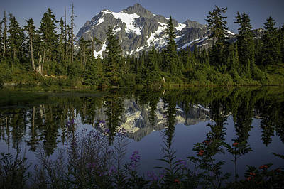 Mount Shuksan Poster by Jean-Jacques Thebault