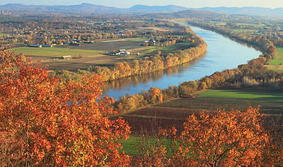 Mount Sugarloaf Connecticut River Autumn Poster by John Burk
