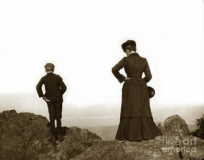 Poster featuring the photograph Mount Tamalpais Marin County California Circa 1902 by California Views Mr Pat Hathaway Archives