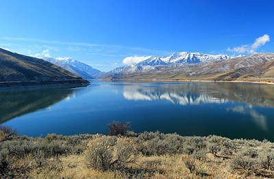 Mount Timpanogos From Deer Creek Poster