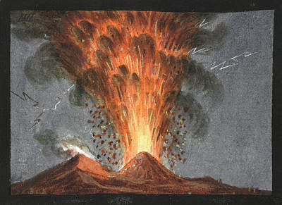 Mount Vesuvius Poster by British Library