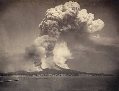 Mount Vesuvius Eruption, 1872 Poster by Science Photo Library