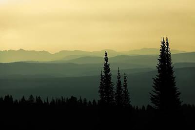 Mount Washburn Mist Poster by Todd Klassy