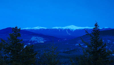 Mount Washington And The Presidential Range At Twilight From Mount Sugarloaf Poster