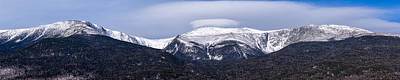 Mount Washington And The Ravines Winter Pano Poster