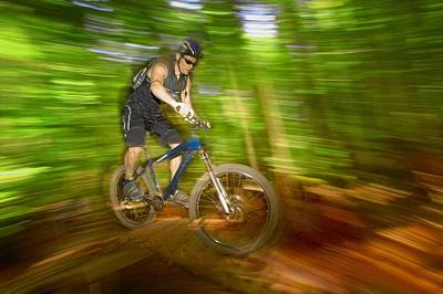 Mountain Biker Poster by Don Hammond