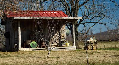 Mountain Cabin In Tennessee 1 Poster by Douglas Barnett