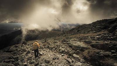 Mountain Decent Poster by Chris Fletcher
