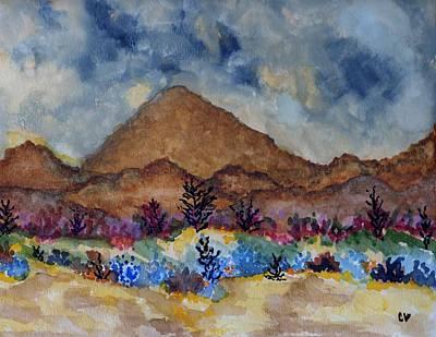 Mountain Desert Scene Poster