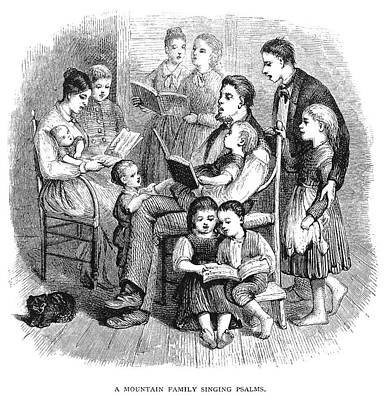 Poster featuring the painting Mountain Family, 1874 by Granger
