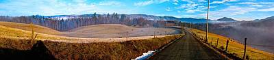 Mountain Farm Panorama Version 2 Poster by Tom Culver