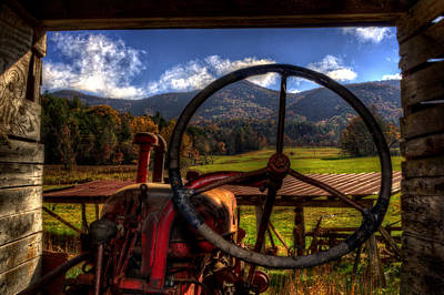 Mountain Farm View Poster