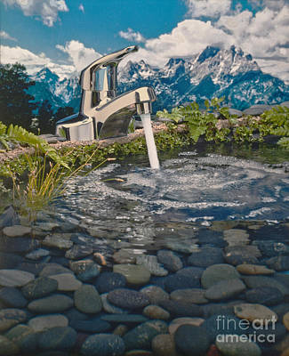 Mountain Faucet Poster by Frank Bez