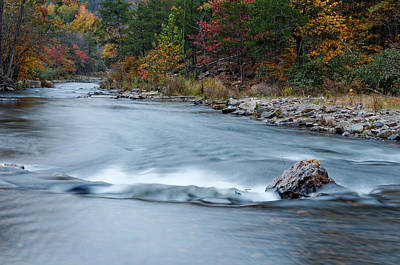 Mountain Fork River In The Fall Poster by Silvio Ligutti