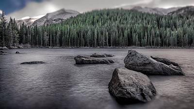 Mountain Lake Poster by Garett Gabriel