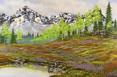 Mountain Meadow Poster by Jack Malloch