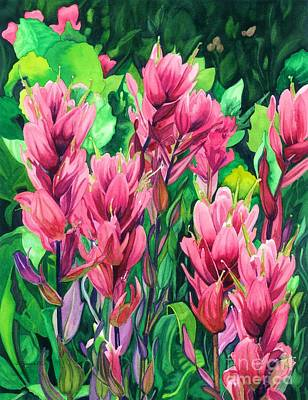 Mountain Meadows' Paintbrush Poster by Barbara Jewell