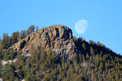 Mountain Moonset Poster