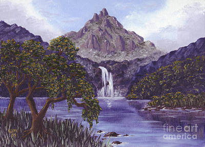 Poster featuring the painting Mountain Peak by Val Miller