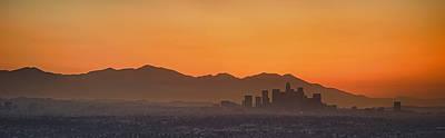 Mountain Range At Dusk, San Gabriel Poster