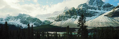 Mountain Range At The Lakeside Poster by Panoramic Images