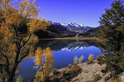 Mountain Reflections Poster by Teri Virbickis