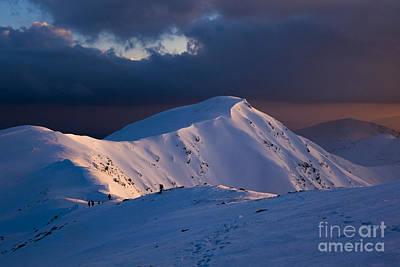 Mountain Ridge In Sunset Poster