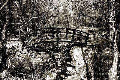 Mountain Spring Bridge-sepia Poster by Douglas Barnard