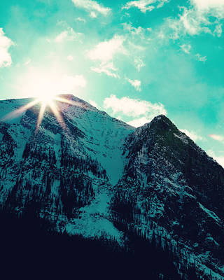 Mountain Starburst Poster by Kim Fearheiley